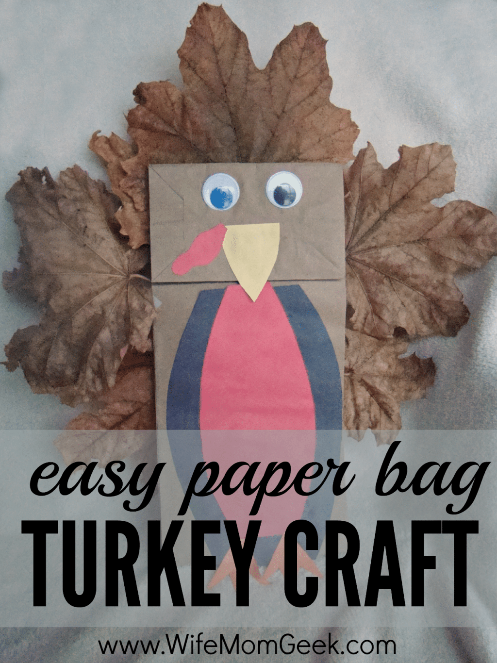 Easy Paper Bag Turkey Craft
