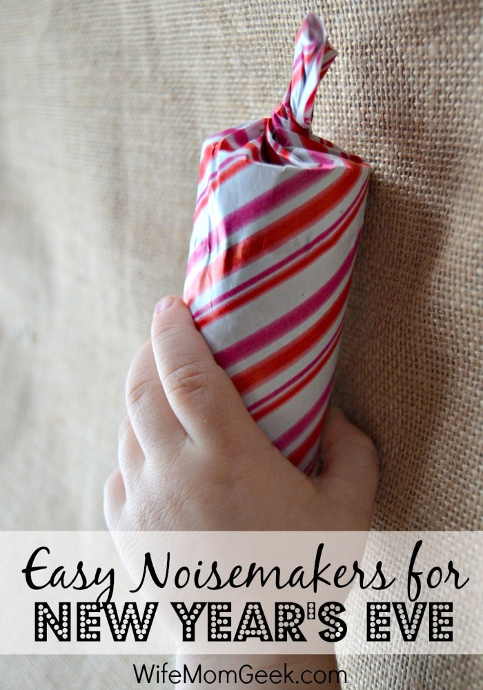Easy New Year's Eve Noisemaker