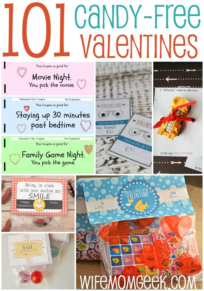 101 Candy Free Valentines for Kids