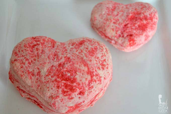 Baked Play Dough for Valentine's Day
