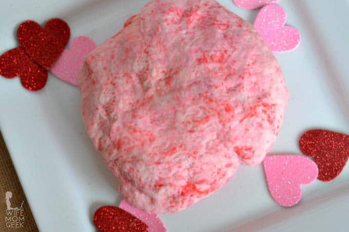 Edible Play Dough for Valentine's Day