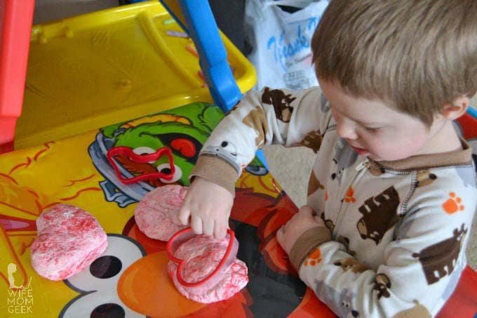 Taste Safe Play Dough for Valentine's Day