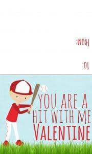baseball valentine boy