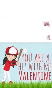 baseball valentine girl