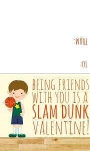 basketball valentine