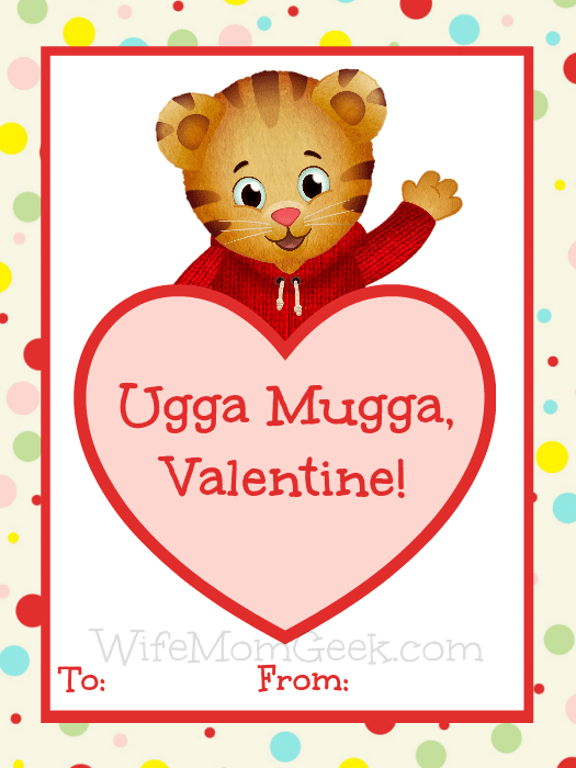 graphic relating to Daniel Tiger Printable identified as Daniel Tiger Valentines - Totally free Printables