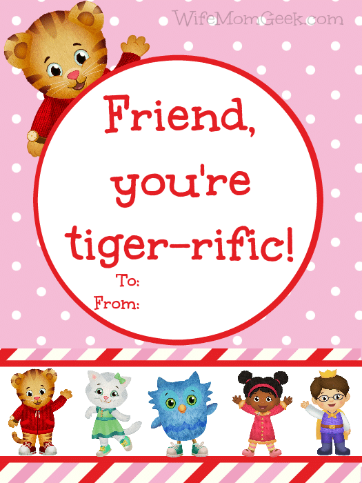photograph about Daniel Tiger Printable named Daniel Tiger Valentines - Absolutely free Printables