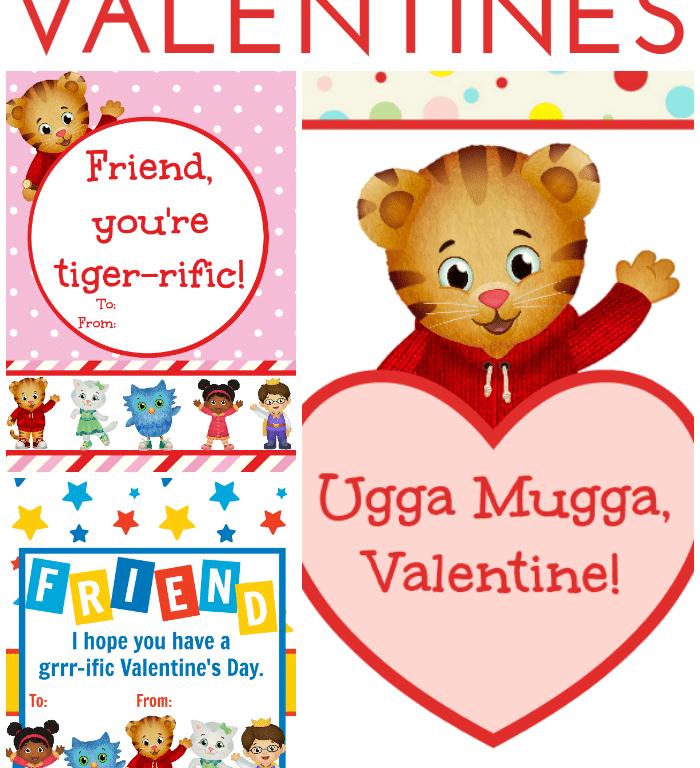 3 Free Printable Daniel Tiger Valentines