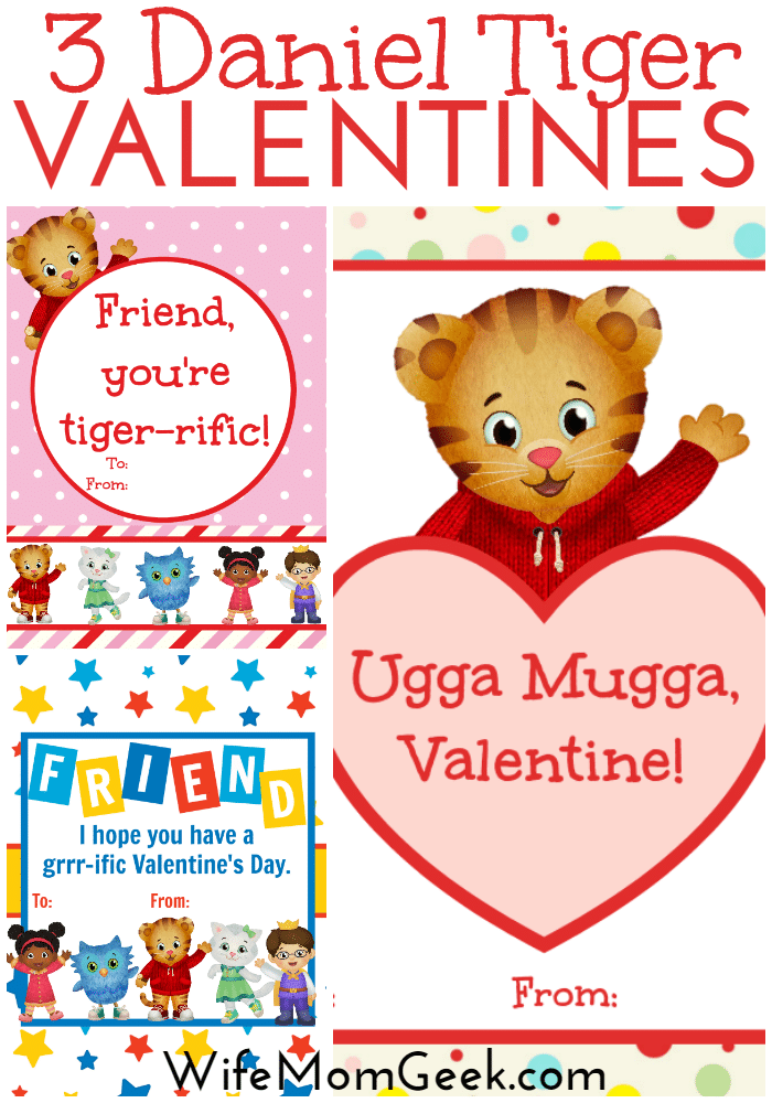 photograph regarding Tiger Printable named Daniel Tiger Valentines - Absolutely free Printables