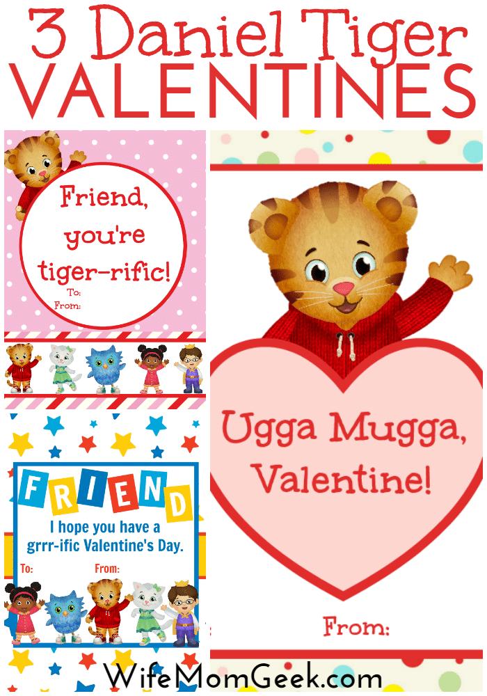 Daniel Tiger Valentines – Free Printables