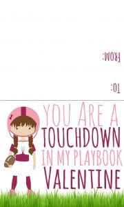 football valentines girl