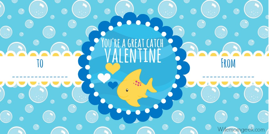 You're a Great Catch, Valentine printable