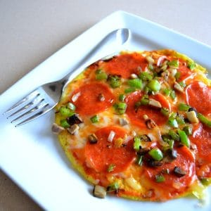 Pizza Omelet - Low Carb and Gluten Free Breakfast Idea