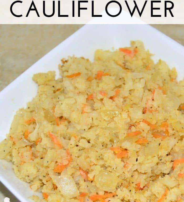 savory riced cauliflower pin 1