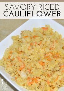 Savory Riced Cauliflower - You can make this dish even if you only have frozen cauliflower on hand.