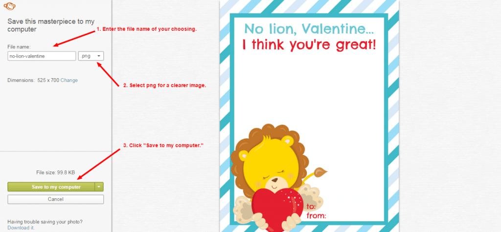 Creating a Valentine in Picmonkey - screenshot 12