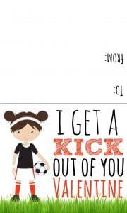 soccer valentine girl