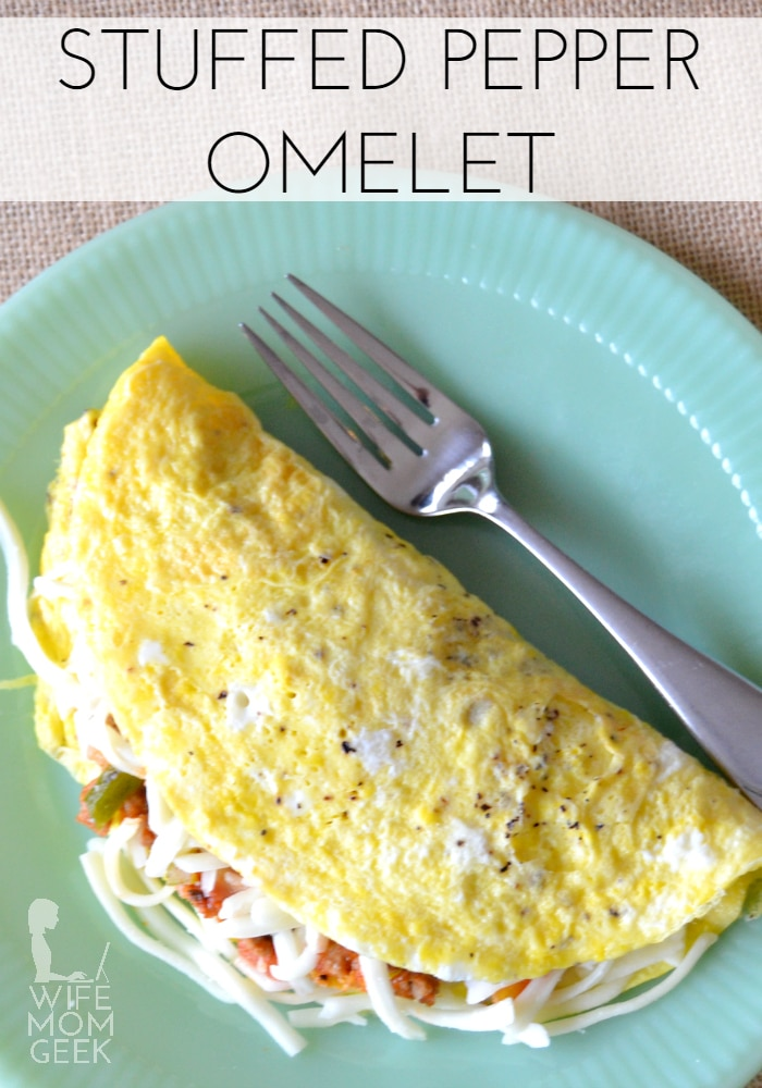 Stuffed Pepper Omelet - Low Carb Breakfast Idea
