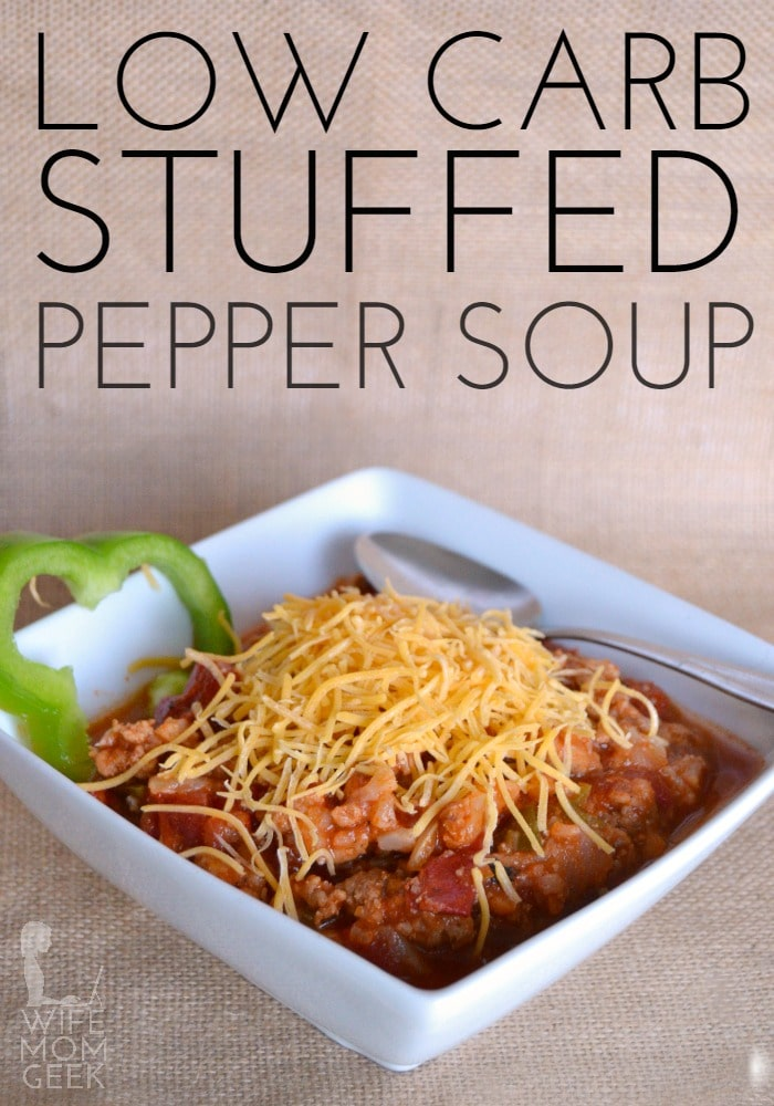 Stuffed Pepper Soup - the low-carb version!
