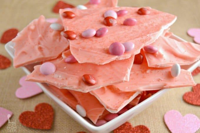 Valentine's Candy Bark