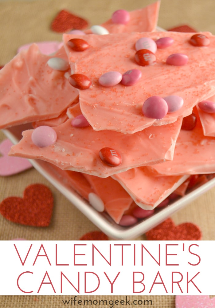 Valentine's Candy Bark - an easy dessert that the kids can make