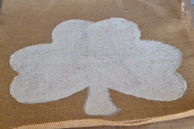 Burlap Shamrock Decor