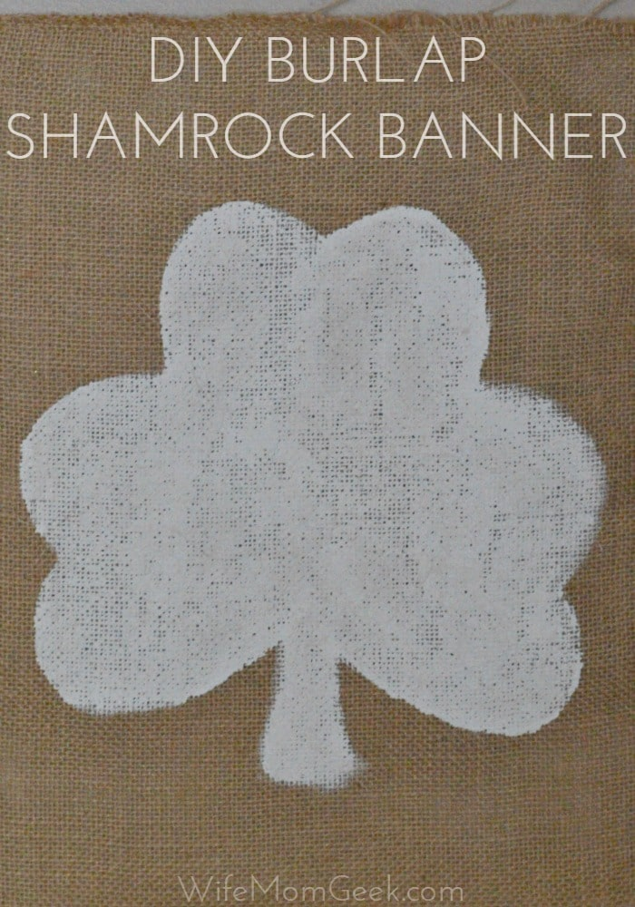 This burlap shamrock banner is the perfect diy craft for St. Patrick's Day. It's such an easy craft for kids and adults, and it's a simple, yet beautiful way to add some St. Patrick's Day decor to your home.