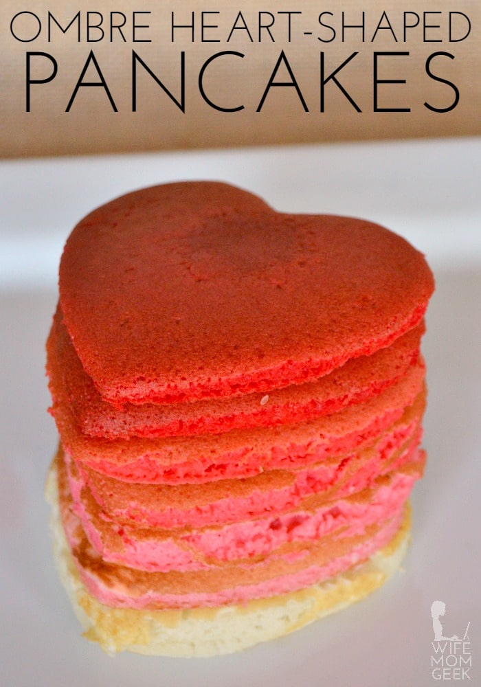 Ombre Heart-Shaped Egg-Free Pancakes