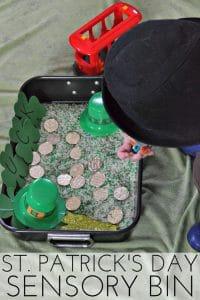 St. Patrick's Day Sensory Bin for Preschoolers