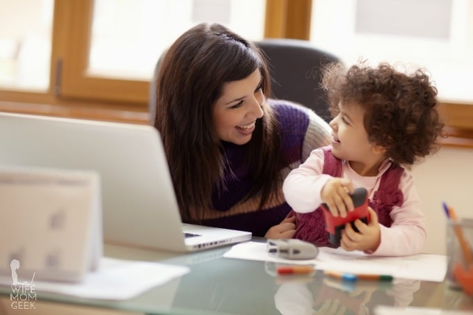 tips for working at home when you have young kids