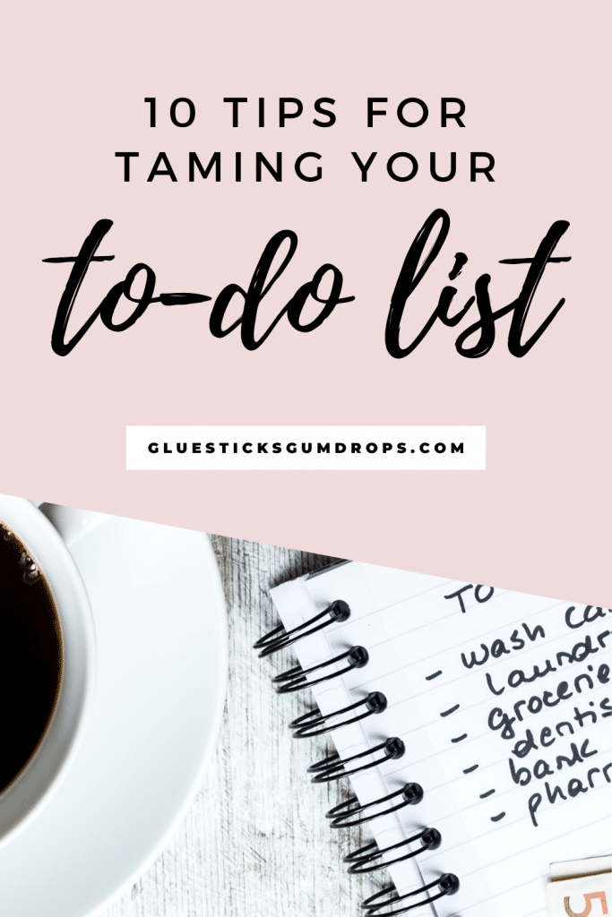 manage your to-do list Pinterest image with coffee and to-do list