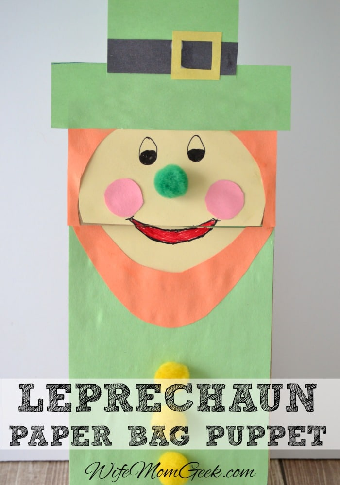 Leprechaun Paper Bag Puppet