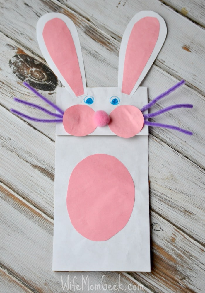 Rabbit Paper Bag Puppet