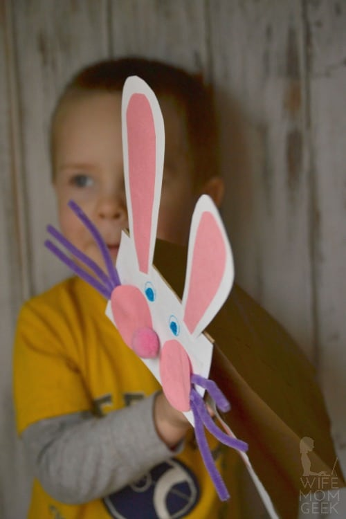 Bunny Puppet for Easter