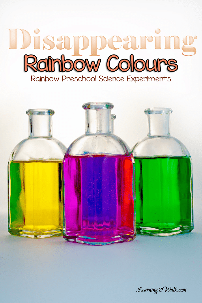 Disappearing Rainbow Colors Science Experiment