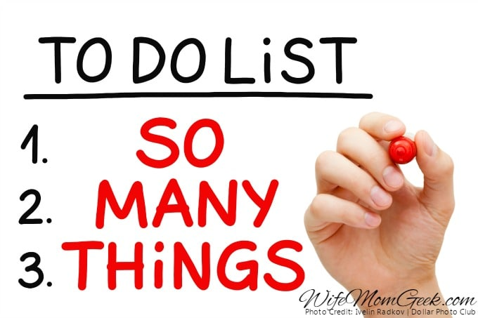 Don't put too many things on your to-do list