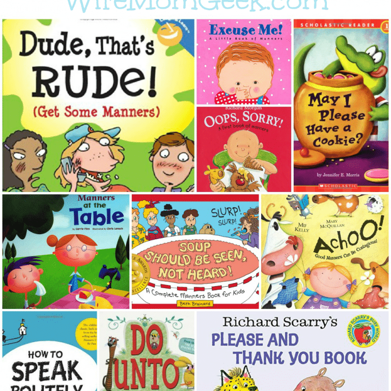 manners collage withtext