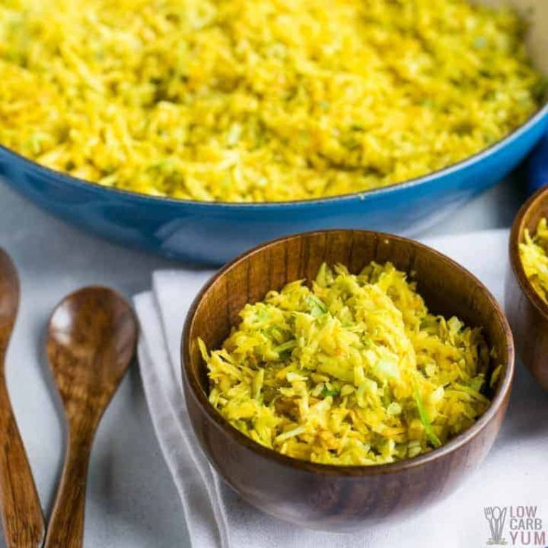 fried cabbage rice with indian spices