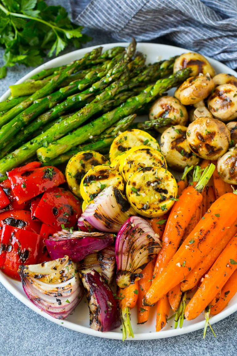 grilled veggies low carb side dish