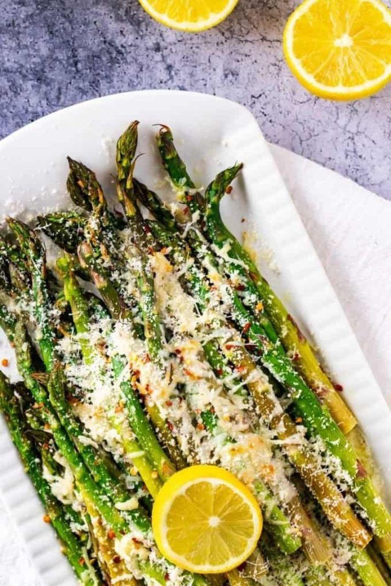 keto asparagus with parmesan