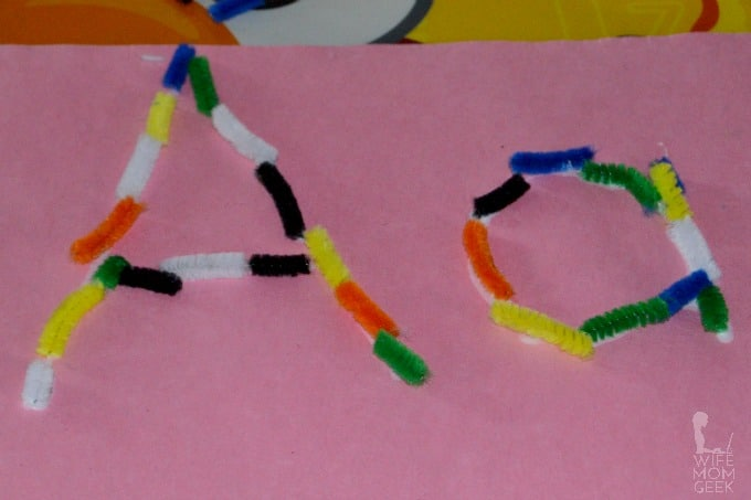Letter A Activity With Pipe Cleaners