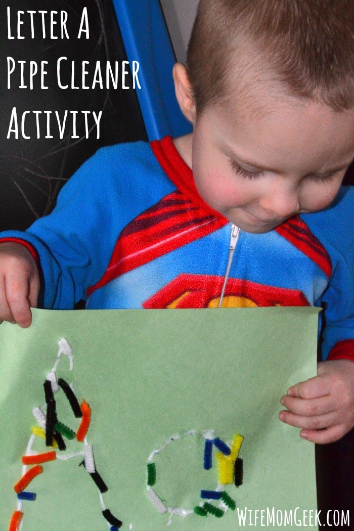 Letter A Pipe Cleaner Activity