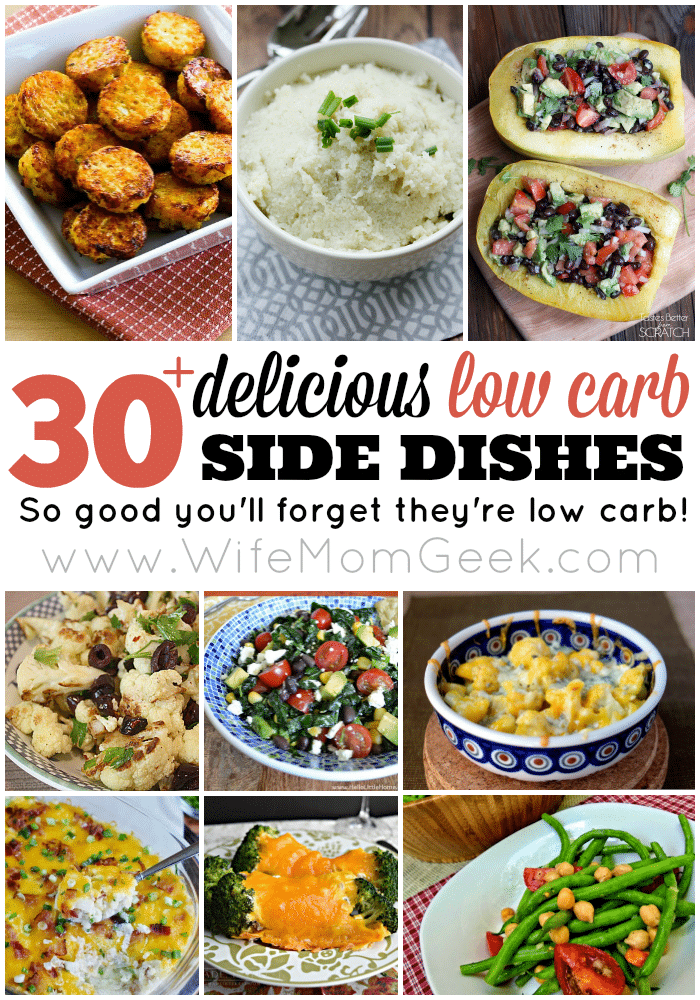 30+ Delicious Low Carb Side Dishes