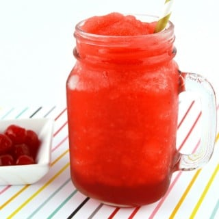Homemade Cherry Slushie