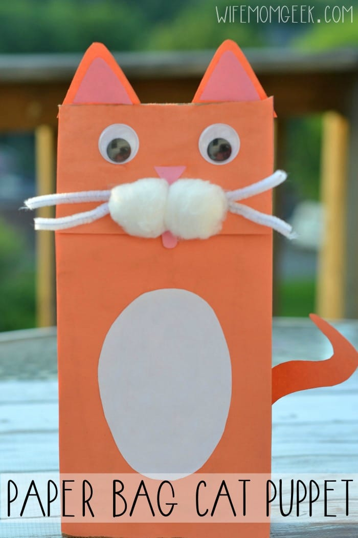 Paper Bag Cat Puppet