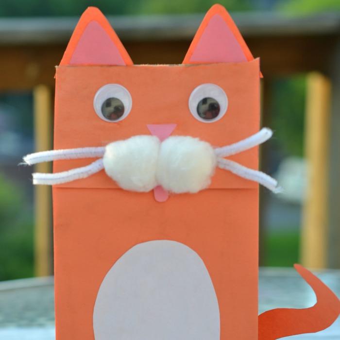 Cat Paper Bag Puppet