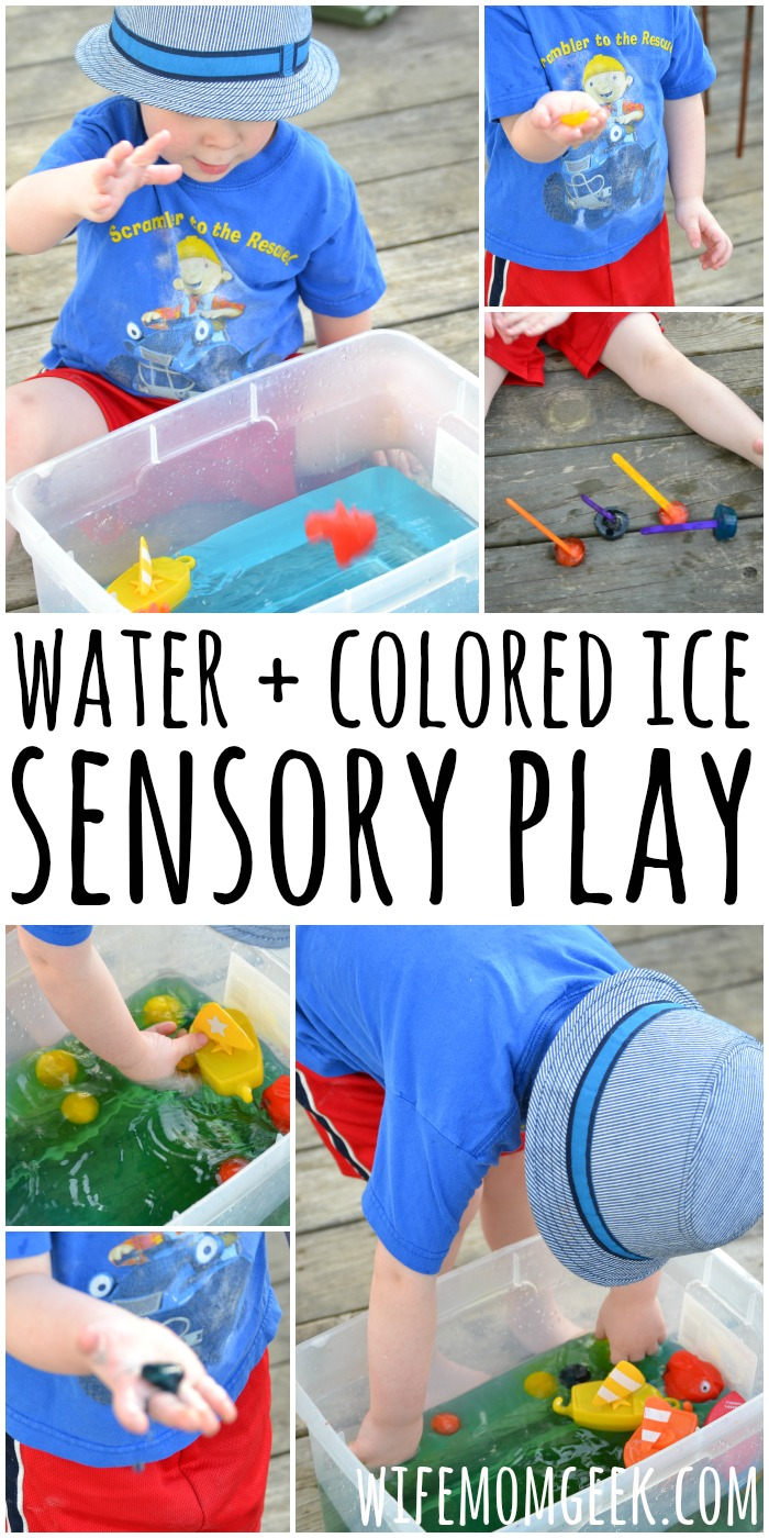 Water Sensory Play With Colored Ice