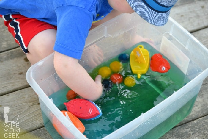 Water and Ice Sensory Play