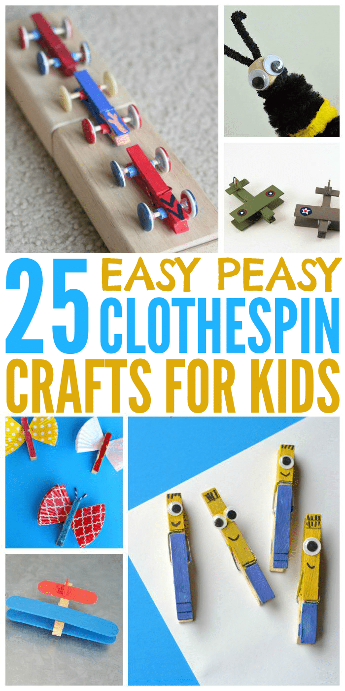 25 Easy Clothespin Crafts For Kids
