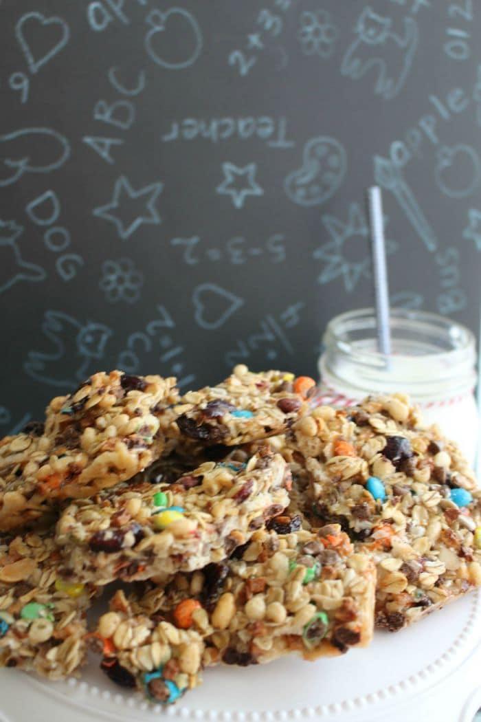Kids will love these homemade granola bars.